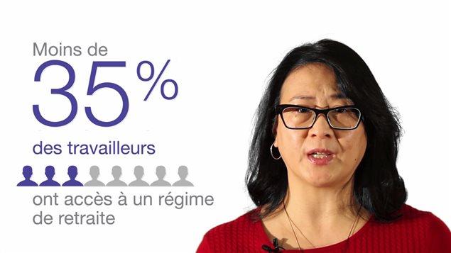 Publicité du gouvernement de l'Ontario pour décrire la situation des futurs retraités