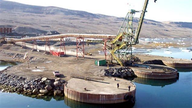 Le poste d'amarrage de Nanisivik construit au cours des années '70.