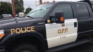 Véhicule de la Police provinciale de l'Ontario, région du Nord-Est, à North Bay