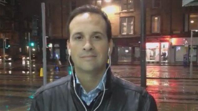 Alexandre Cloutier, en entrevue sur Skype.