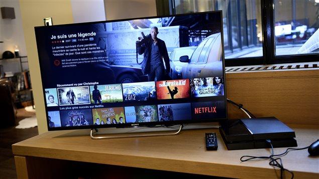 L'interface de Netflix en France