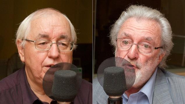 Le collectionneur Pierre Gagné et le psychologue et auteur Hubert Van Gijseghem