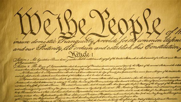Première page de la constitution américaine