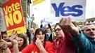L'écart se resserre entre le oui et le non en Écosse