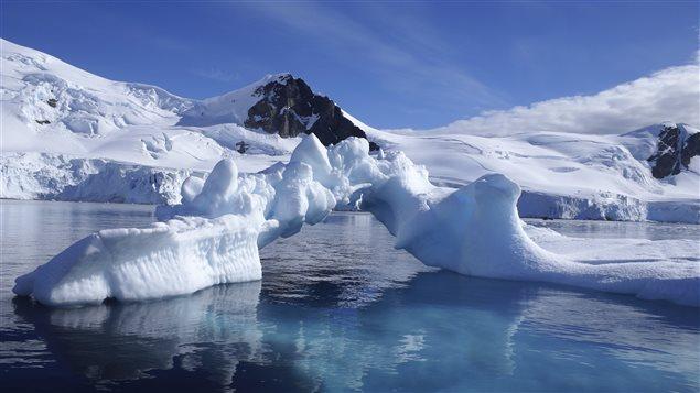Paysage de l'Antarctique