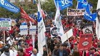La coalition syndicale conteste la constitutionnalité de la loi 3