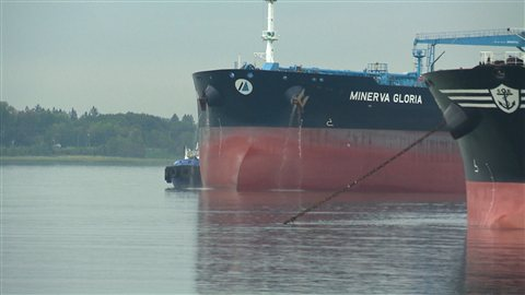 Le pétrolier arrivé à Sorel-Tracy