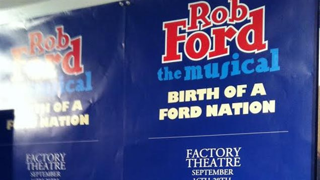 L'affiche du spectacle Rob Ford the musical