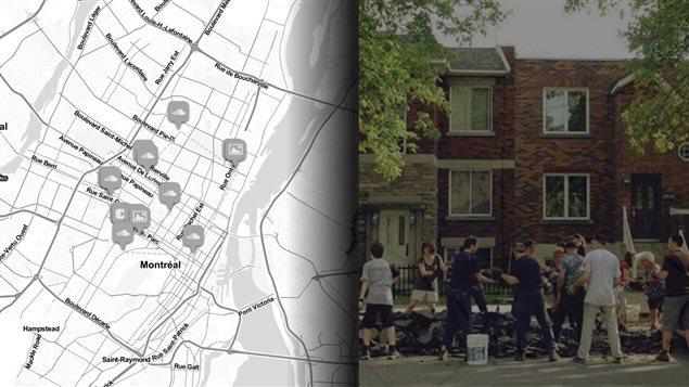 Dans Rosemont, des voisins retirent de l'asphalte pour créer un jardin de rue.