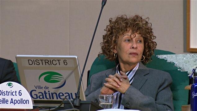 La conseillère municipale du district de l'Orée-du-Parc, à Gatineau, Mireille Apollon (2014-09-23)