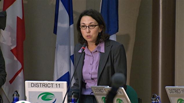 La conseillère municipale du district de Pointe-Gatineau, à Gatineau, Myriam Nadeau (2014-09-23)