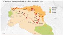 La progression de l'État islamique en Irak et en Syrie