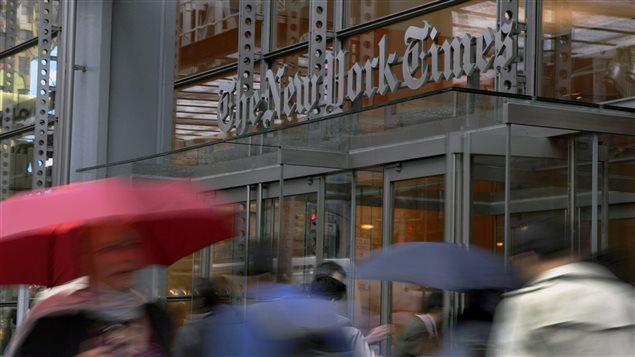 Edificio del periódico The New York Times.