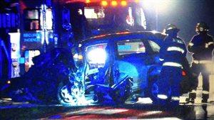 Un accident impliquant deux véhicules a fait trois blessés sur la route 158, à Mirabel.