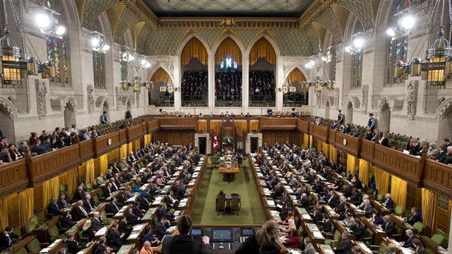 La Chambre des communes � Ottawa