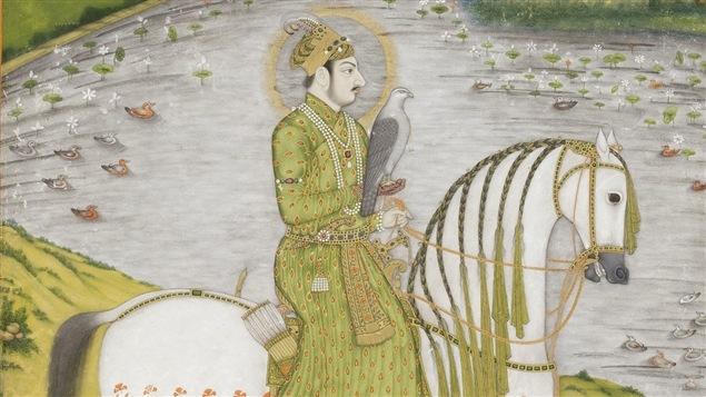 Partie d'une des oeuvres faisant partie de l'exposition <i>Inde : miniatures du sud de l'Asie du San Diego Museum of Art</i>, au Musée national des beaux-arts du Québec
