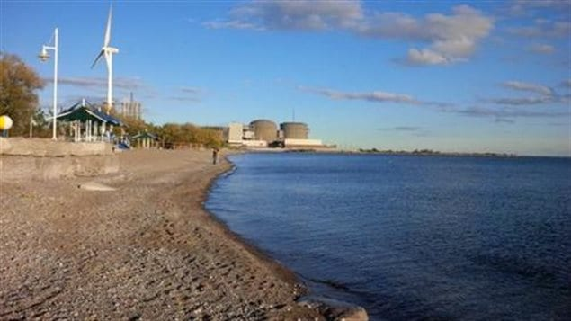 The Pickering Nuclear Generating Station, seen in the distance, is the oldest in Canada, It is approximately 40 kilometres east of Toronto on the shore of Lake Ontario.