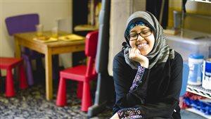 Una de las participantes al proyecto