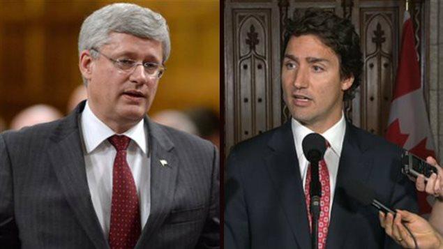 Stephen Harper et Justin Trudeau