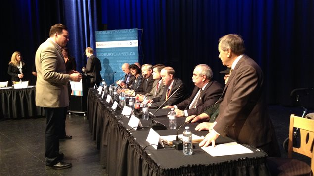 Débat des candidats à la mairie de Sudbury 2014