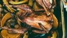 Faisan et légumes rôtis à la sauce aigre-douce