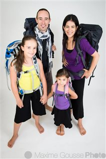 Angèle Vermette, Yan Bellerose et leurs deux filles, Céleste et Corail