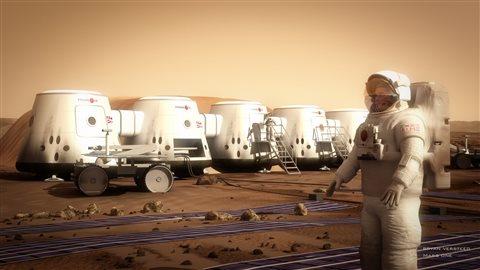 Le projet Mars One à comme objectif de créer une colonie permanente sur la planète Mars.