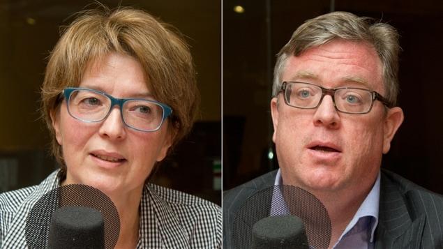 La journaliste et auteure Pascale Navarro et Le président-directeur général de l'Institut économique de Montréal, Michel Kelly-Gagnon