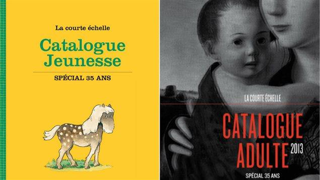 Pages couverture des catalogues jeunesse et adulte 2013 de la maison d'édition La courte échelle.
