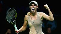 Wozniacki gagne son marathon contre Sharapova