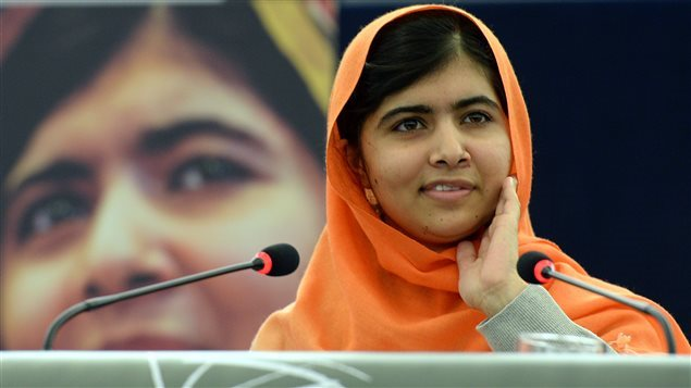الناشطة الباكستانيّة ملالا يوسف زاي الحائزة على جائزة نوبل للسلام