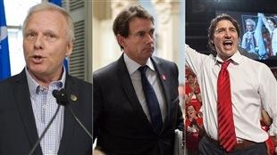 Lisée, Péladeau et Trudeau, dirigeants en herbe