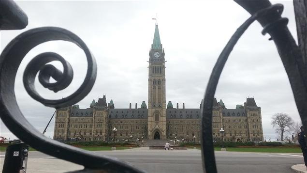 Le parlement d'Ottawa, au lendemain de l'attaque armée du 22 octobre 2014.