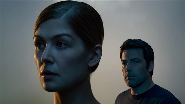 Une partie de l'affiche de <i>Gone girl</i> de David Fincher
