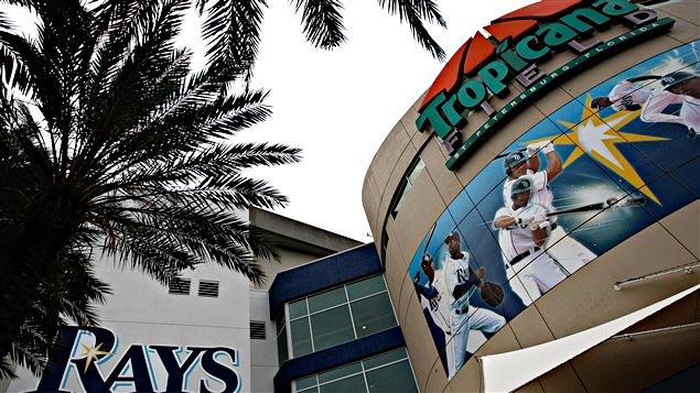 Le Tropicana Field à St. Petersburg considéré comme le pire stade du baseball majeur.