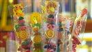 Les bonbons filés