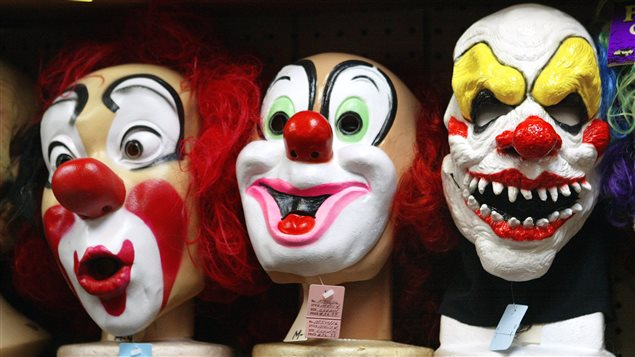 Masques de clowns