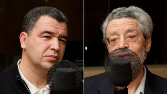 Le cofondateur et secrétaire général du Congrès maghrébin, Lamine Foura, et l'islamologue et professeur associé au Département de sciences de la religion de l'UQAM, Jean-René Milot