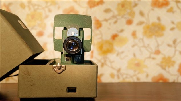 Un projecteur de diapositives vintage