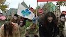 Des zombies pour dénoncer l'austérité à travers le Québec