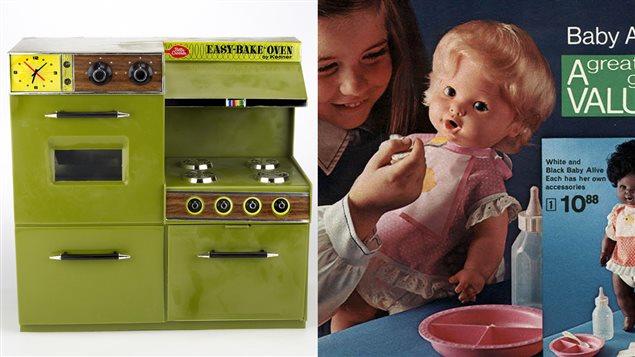 Deux jouets des années 1960 et 1970 : l'Easy bake oven et la poupée Baby alive
