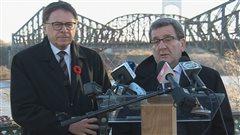 Les maires de Lévis et de Québec, Gilles Lehouillier et Régis Labeaume.