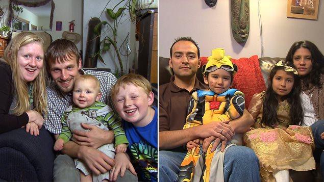 Une famille du Vermont et une famille de Sherbrooke