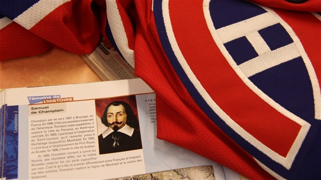 Samuel de Champlain et chandail du CH