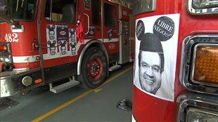 Des camions de pompiers à Montréal