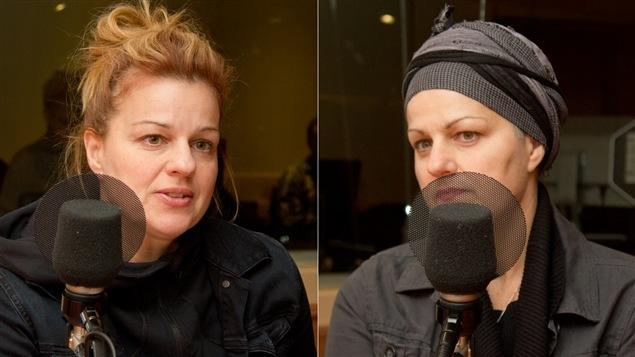 La comédienne Sylvie Moreau et sa soeur jumelle, Nathalie