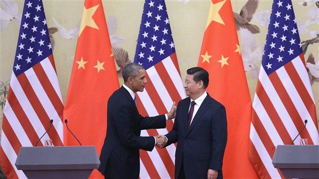 Le président américain, Barack Obama, et le président chinois, Xi Jinping.