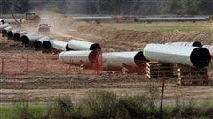 Une partie du pipeline au Texas, en octobre 2012