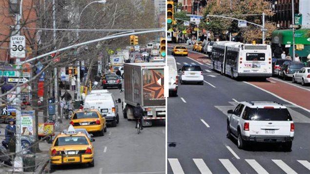 Aménagements en sécurité routière à New York
