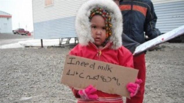 Enfant au Nunavut